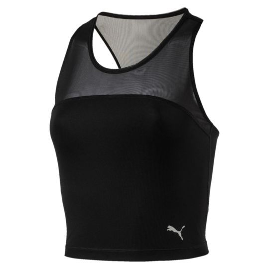 Explosive Run Crop Top Black