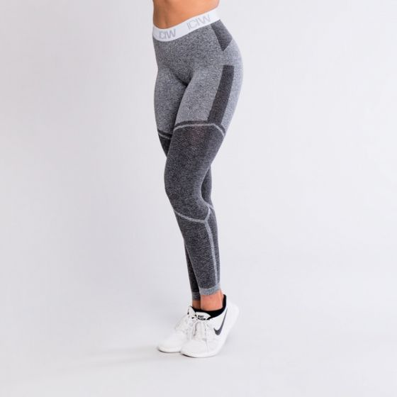 ICIW Seamless tights v2 - Grey / White / Grey