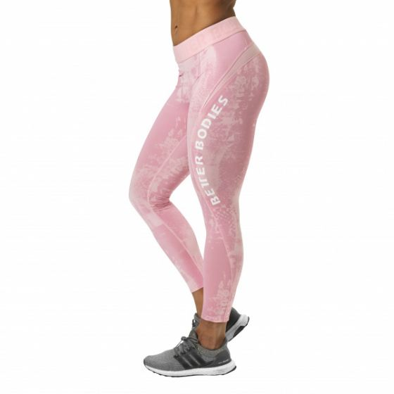 Gracie Curve Tights - Light Pink Print