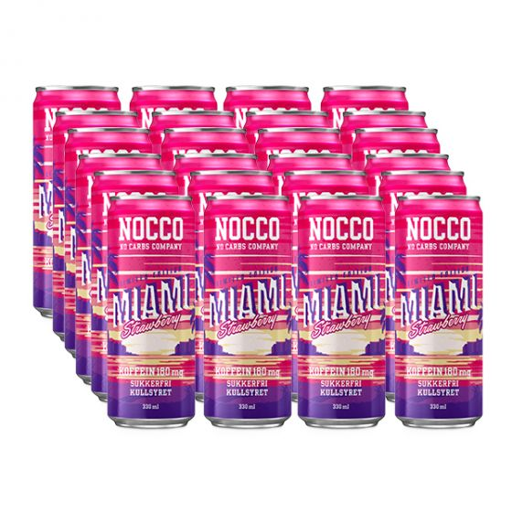 NOCCO BCAA 330 ml x 24 - Miami Strawberry