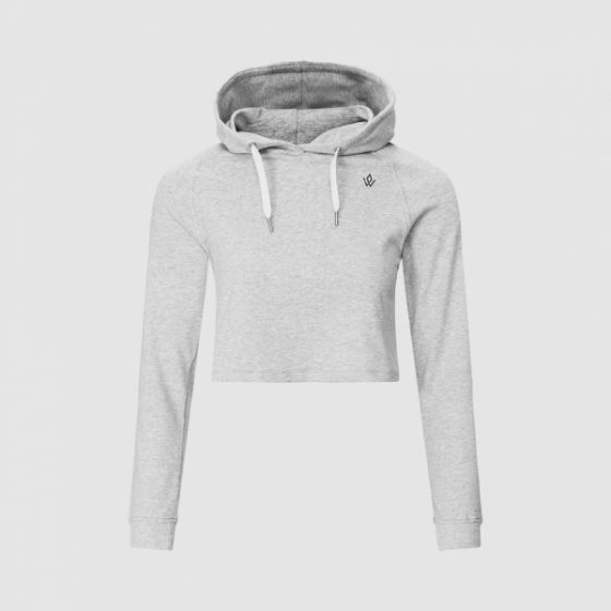 Core Cropped Hoodie - Light Grey