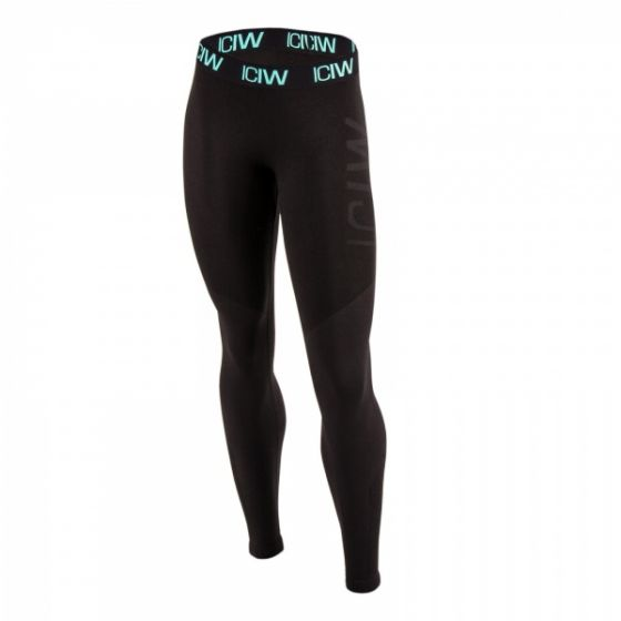 Seamless tights - Black / Black / Mint