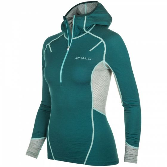 Lithe Tech-Wool Hood - Teal