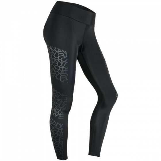 Determined Print Tights - Black