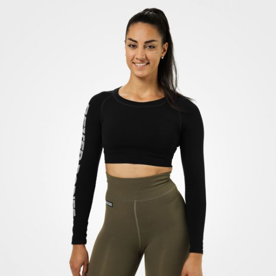 Bowery Cropped ls - Black