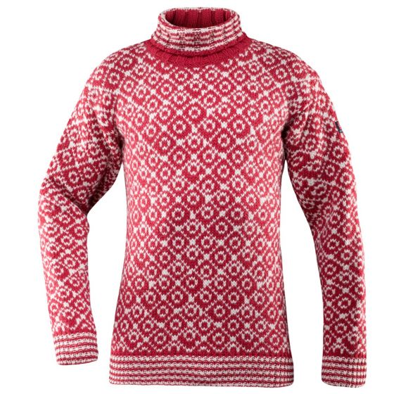Svalbard Sweater High Neck - Hindberry