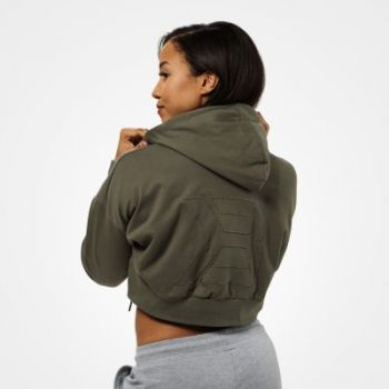Astoria Cropped Hoodie - Washed Green