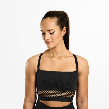 Waverly Mesh Bra - Sort