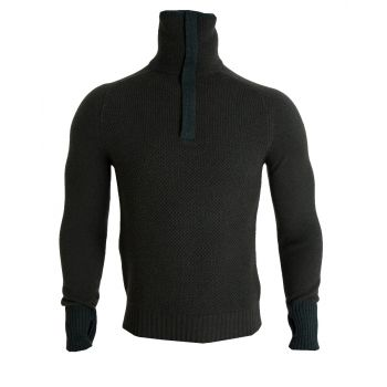 Tufte Mens Bambull Blend Half-Zip Sweater - Grønn