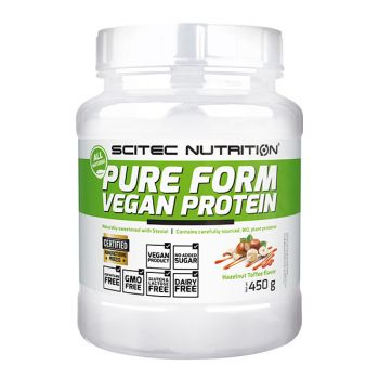 Pure Form Vegan Protein 450g, Hazelnut Toffee - SN