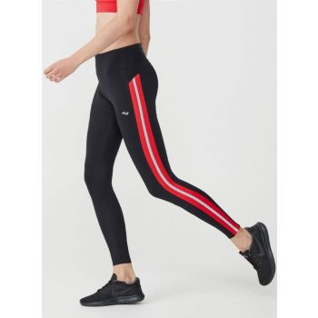 Shape Stripe Tights - Rød