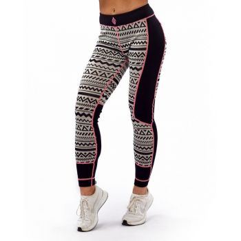 Aztec Wool Pant - Black/ White/Pink