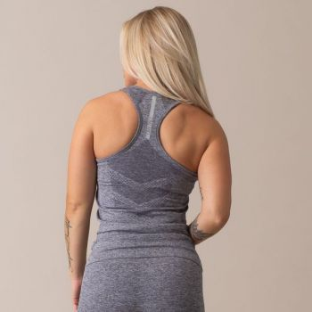 Queen Mesh Seamless Tank Top - Grey Melange