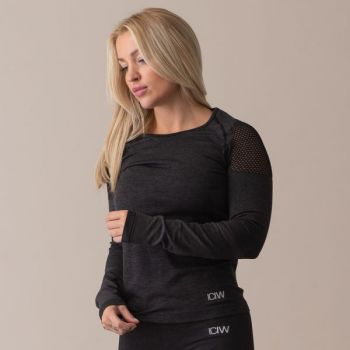 Queen Mesh Seamless Long Sleeve - Graphite