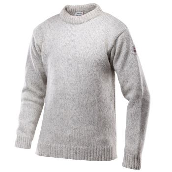Nansen Sweater Crew Neck - Grey Melange