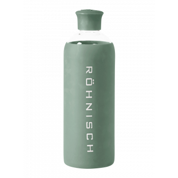 Glass Water Bottle - Grønn