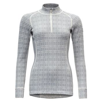 Alnes Woman Half Zip Nech - Grey
