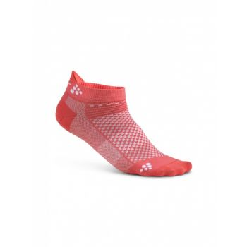 Cool Shaftless 2-pack Sock - Dahlia/White
