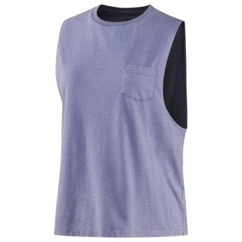 Stone Wash Muscle Tank - Lilac Shadow - L