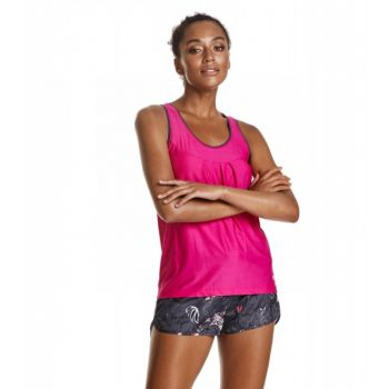 Sweat It Solid Tank Top - Peony Solid