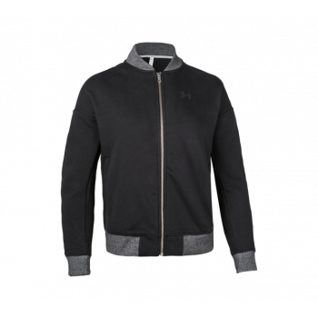 UA Threadborn Fleece Bomber - Black