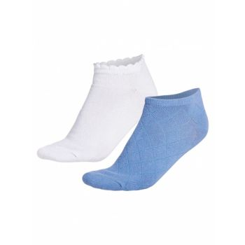2 Pack Short Sock - Blue Shell
