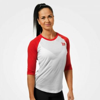 Womens Baseball Tee - Scarlet Red