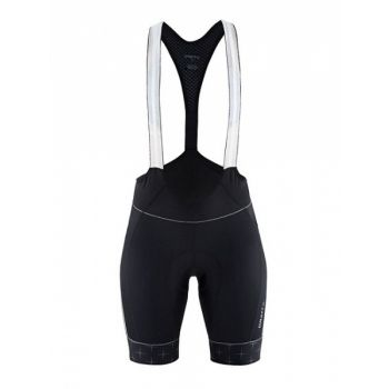 Belle Glow Bib Shorts W - Black