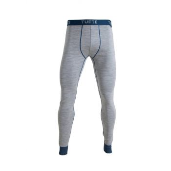 Mens Bambull Long Johns - Grey Melange / Sea