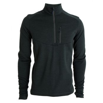 Tufte Mens Wool Fleece Half-Zip - Deep Forest Mela