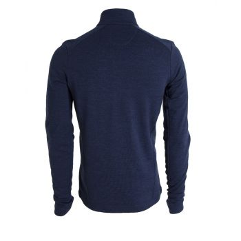 Mens Wool Fleece Half-Zip - Dress Blues Melange