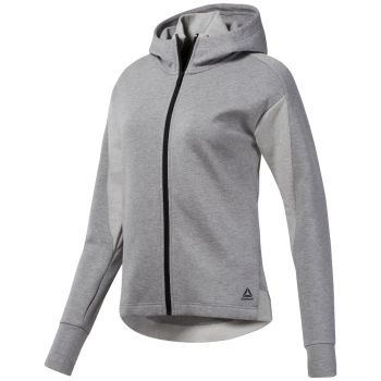 Cotton Full Zip Hoodie - Grå