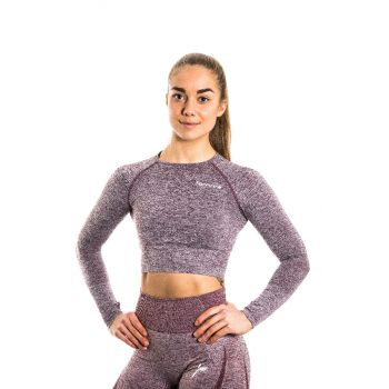 Bordeaux Ocean Crop Long Sleeve Melange