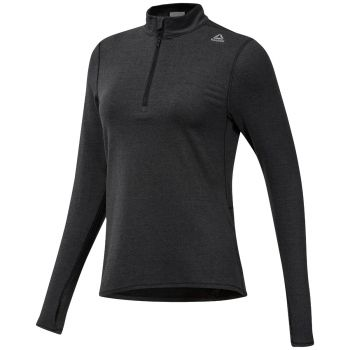 Running Essentials Quarter Zip Genser Dame - Sort