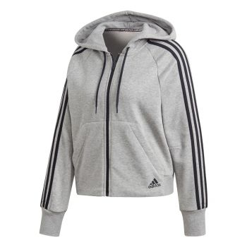 3 Stripe Full Zip - Grå