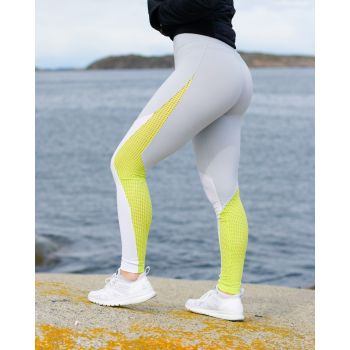 Lux Colorblock Tights - Hvit