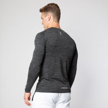 Seamless Long Sleeve herre - Black