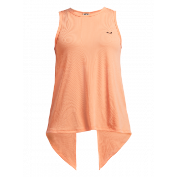 Logo Ribbed Singlet Dame - Orange