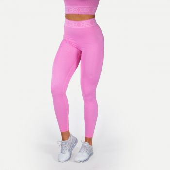 Rib Seamless Tights Dame - Rosa