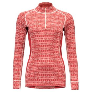 Alnes Woman Half Zip Nech - Chilli