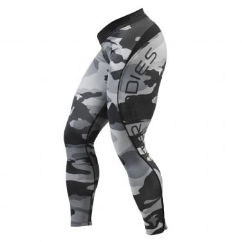 BB Camo Long Tights - Grey Camoprint
