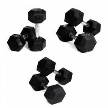HEX Dumbbell Set 2 - 9 kg