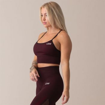 Queen Mesh Seamless Sport Bra - Burgundy