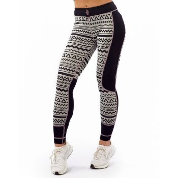 Aztec Wool Pant - Black / White / Purple