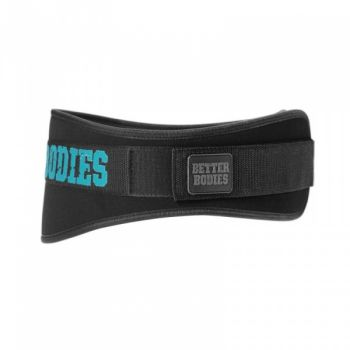 Womens Gym Belt - Black / Aqua