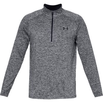 UA Tech 1/2 Zip - Black Melange
