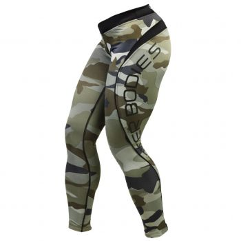 BB Camo Long Tights - Green Camoprint