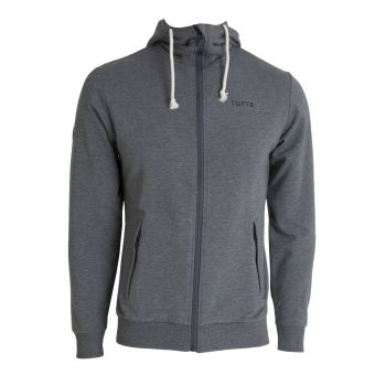 Mens Hoodie Jacket - Dark Grey Melange