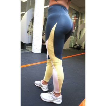Les Mills Colorblock Tights - Blå