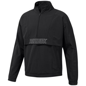 Meet You There Woven Half Zip Genser - Sort